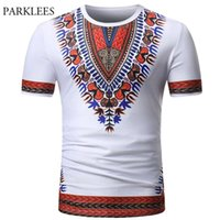 African Dashiki T Shirt Men 2021 Summer Brand Short Sleeve Tee Homme Casual Slim Fit O Neck Print Male T-shirts Men's
