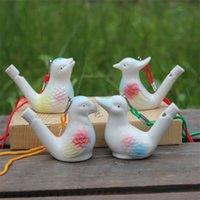 Oiseau créatif oiseau oiseau oiseau blanc oiseaux céramique vitrage chant chirps baignoire hamtime jouets cadeaux fête de Noël fête préférée 2181 v2