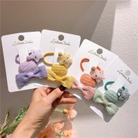Hair Accessories Simple Rope Girls Wool Bow Hairpin BB Clip Baby Star Rubber Band Ties Headwear For Children Fashion