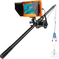 Fischfinder Unterwasser-Fischerei-Kamera 7-Zoll-Monitor 10pcs führte Nachtsicht 195 Grad Metall-Seerad