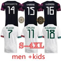 XXXL 4XL 2021 México Soccer Jersey Home 20 21 Chicharito Lozano dos Santos Camisa de Futebol Adulto Men + Kit Kits Define Uniformes