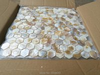 Wallpapers Mother Of Pearl Mosaic Tile For Kitchen Backsplash And Bathroom Wall Dapple Color Hexagon Style 11 Square Feet/lot