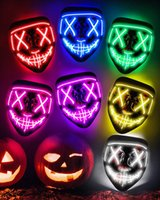 Halloween Mask LED Light Up Funny The Purge Election Year Great Festival Cosplay Costume Supplies Party Masks
