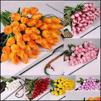 Wreaths Festive Party Supplies & Gardenlatex Tips Artificial Pu Flower Bouquet Real Touch For Home Decoration Wedding Decorative Flowers 11