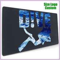 Mouse Pads & Wrist Rests Dive Scuba Diving Cool Personalized Custom Long Gamer Mousepad Alfombrilla Raton Pc Completo With Support