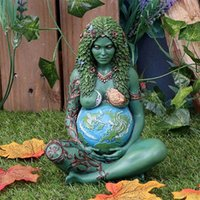 2021 Mamãe Goddess Statue Tridimensional Art Figurine Ghia Mãe Terra Resina Escultura Jardim Decoração