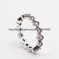 New 100% S925 Sterling Silver European Pandora Style Jewelry Alluring Brilliant Princess with Clear CZ Ring Fashion Charm Ring
