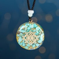 Orgonite Pendant Reiki Healing Energy Generator EMF Radiation Protection Natural Turquoises Necklace Jewelry Necklaces