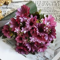 Wedding Flowers Autumn Fake Daisy Silk Bouquet Fall Gerbera Artificial Plastic Home Accessories Room Decor