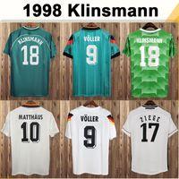 88-96 Matthaus Klinsmann Brehme Mens Soccer Jerseys 98-04 المنتخب الوطني Bobic Scholl Kuranyi Podolski Ballack Klose
