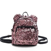 Sacs à dos de designer-Sequins Sacs scolaires adolescents pour filles Pu Hila Sac à dos Cordon Sac Enfants Sac Glitter Girlit Sacs à bandoulière