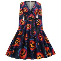 Casual Dresses Fashion Witch Cosplay Halloween Costume Plus Size Skull Dress Lace Bat Sleeve Costumes For Women
