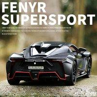 2021 124 Lykan Fenyr SuperSport Diecasts لعبة معدنية لعبة سيارة نموذج عجلات عالية محاكاة سحب العودة مجموعة أطفال اللعب