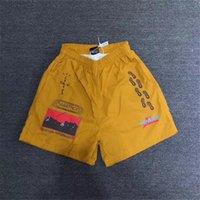 Verano de moda Malla amarilla Travis Scott Cactus Jack Trails Pantalones cortos Hombres Mujeres Cactus Jack Cleveloth Kanye West C0401