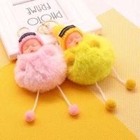 Mujeres llavero de moda accesorios creativos llavero colgante lindo peluche durmiendo baby book bolso amigo amigo de lujo de lujo de alto grado