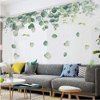 Wall Stickers Plant Bedroom Living Room Decoration Art Mural Home Office Decor Small Fresh Leaves Wallstickers