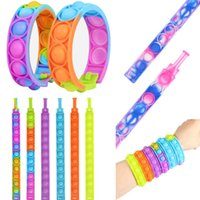 Pops Bubble His Simple Dimple Fidget Anti Stress Toy Colorful Relief Sensory Anxiety Bracelet for Autism Adhd Children