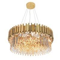 Nordic Crystal Pendant Lamp Modern Luxury Gold Chandelier Indoor Home Lighting For Kitchen Living Room Loft