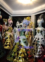 Party Decoration DHL Ballroom Dance Women T Dresses Led Costumes White Light Model Cosplay Stage Show Clothes Singer Dj Wears Luminous Costu