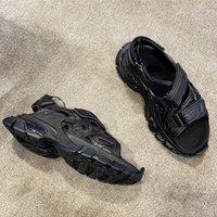 Faixas de sandálias de pista Mulheres Caminhadas Sapatos de Verão Sapatos Womens Hook Loop Zapatos de Mujer Plataforma Flats Beach Slide Cool Clunky Sneakers 44LT #