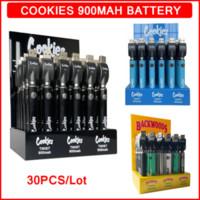 Cookies Backwoods Twist Pre-heating VV Battery 900mAh Bottom Voltage Adjustable USB Charger Vape Pen for 510 Cartridges 30pcs lot