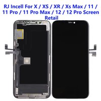 For iPhone XS XR 11 12 Pro Max LCD Panels Used to repair phone display RJ Incell Quality Touch Digitizer Screen Assembly Replacement Gifts Tempered glass film & tools
