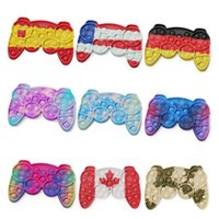 push pop fidget toys silicone camouflage game handle fingertip toy children's educational games