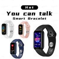 Y16 Smat Bilezik 0.96 inç Bileklikler Bluetooth Çağrı Müzik Uzun Bekleme Çok Spor Modu Kalp Hızı Kan Basıncı Oksijen IP67 Su Geçirmez İzle Spor Izci