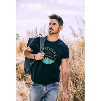 Camiseta SIMwood Art Impressão Homens Manga Curta t - shirts Casual Moda China Roupas 100% Algodão Marca Compras Online