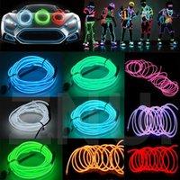 Strings Rope Light Neon Signs Dance Party Decor Flexible EL Wire Tube Lamp Waterproof LED Strip Lighting