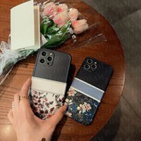 Luxury Flower Print Letter Phone Cases For iPhone 13 13pro 12 12pro 11 Pro 11pro X Xs Xsmax Xr 8 7 Plus Soft Shockproof Case Camera protect Cover