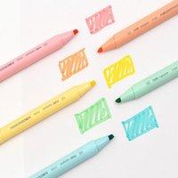 MOHAMM 5 STÜCKE Pure Series Macarons Farbe Kinder Highlighter Candy Marker Büro Schreibwaren für Studenten Highlights