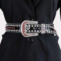 2021women or man belts rhintone belt bb simon belts rhintone women