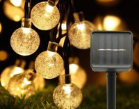 LED crystal ball solar string light.Decorative 22ft LED Outdoor Lights Waterproof, Garden Garland Lights for Decorating Patio