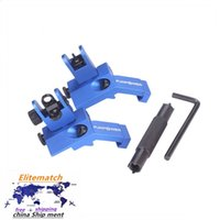 Blue 45 gradi Offset Flip Up Front Front and Post Backup Sight per il fucile