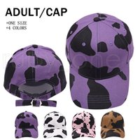 زيبرا شريط البيسبول قبعة البقر الحبوب غسلها الكرة قبعات الأزياء في الهواء الطلق الشمس الاحتفالية حزب القبعات اللوازم 8styles RRA4259