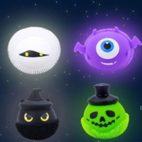 Decompression Fidget toy Glowing Halloween little devil pinch music ball spoof to vent adult toys factory BWA7695