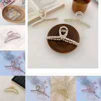 Metal Pearl Grip Clips rhinestone Simplicity Hairpin texture Foundation clamp Hairdresser Curling clip 3 4hx Y2