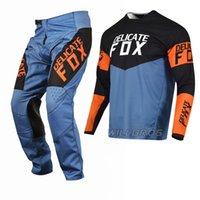 Hassas Tilki Donanma 180 Revn Mx Jersey Pantolon Motocross Combo Off Road Binme Dağ Bisikleti SX ATV UTV MTB Dişli Seti