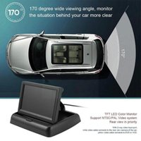 Car Video 4.3 Inch Display Foldable Monitor TFT LCD Camera For Screen Monitors Rearview System Parking Reverse U3L7