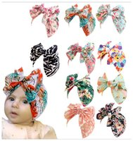 New Fashion Baby Flower tire cap Newborn Elastic Baby Turban Hats for Girls Cotton Infant Beanie Cap