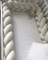 Bedding Sets 3M Baby Bed Bumper Braid Knot Pillow Cushion For Infant Crib Protector Cot Tour De Lit Tresse Room Decor