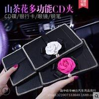 Inlaid Diamond Camellia Car Bill Clip liefert Multifunktionsunternehmen Sunshade-CD-Gläser d
