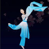 Traje folclórico chino Manga larga Hembra Yangko Danza Dancer Dancer Wear Escenario Performance Llegada Mujeres Bailar