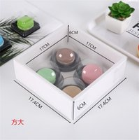 الأبيض شفافة البسكويت المعجنات مربع هدية غطاء كعكة الخبز صناديق التعبئة والتغليف ورقة هدايا مربع مخصصة 1223 v2
