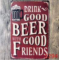 NewMetal Beer Poster Corona Extra Tin Signes Rétro Stickers muraux Décoration Art Plaque Vintage Vintage Home Decor Bar Pub Cafe EWF5742