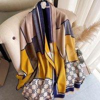 Scarves 2021 Luxury Cashmere Scarf Winter Women Pashmina Shawls Wraps Female Foulard Bandana Thick Ponchos Capes Hijab Bufanda