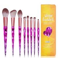 8pcs Diamond Makeup Brushes Set High Quality Soft Skin Friendly Nylon Cosmetic Brush Professional Beauty Make Up Tool kit Maquiagem