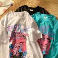 Women's T-Shirt Summer Goth Female Tee Aesthetic Loose Women Punk Dark Grunge Streetwear Ladies Gothic Top Tshirts Harajuku Clothes