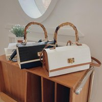 Evening Bags Luxury Crossbody For Women 2021 Fashion Crocodile Pattern Shoulder Bag Lady Daily Totes Flap Hand With Bamboo Handle